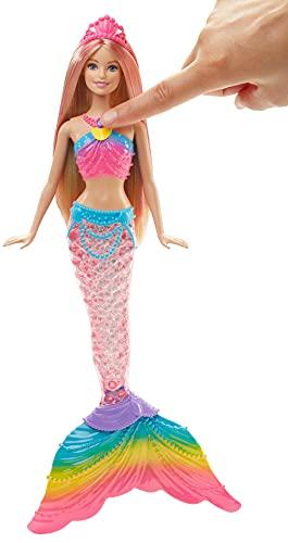 Barbie Sirène Magique de Couleurs Queue Lumière - 2