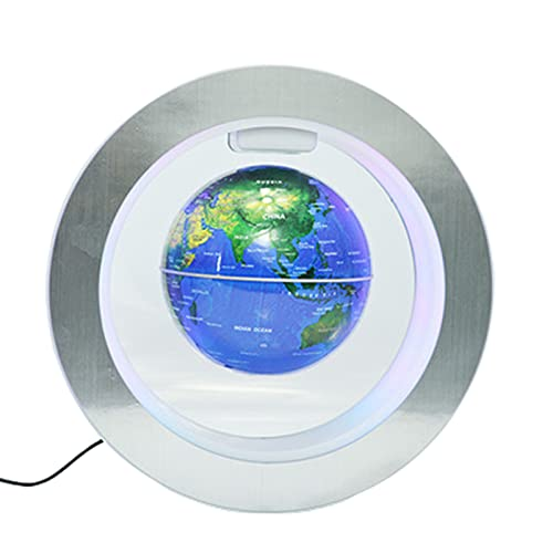 Globos TerráQueos TerráQueo Interactivo NiñOs Levitación magnética led de 15 cm de 6 Pulgadas,Blue,American-Specifications