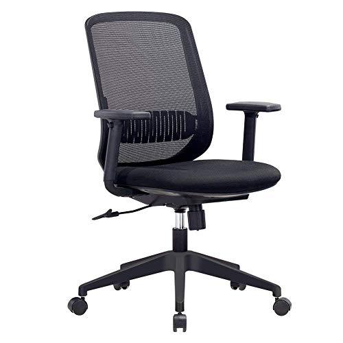 MOOSENG Home Office Mesh Mid-Back Swivel Task Adjustable Armrest...