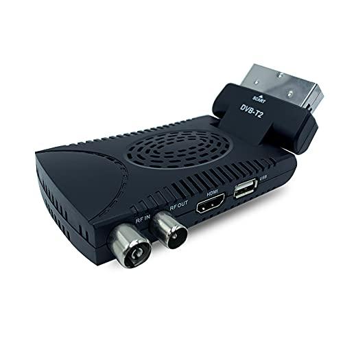 AOMEX DECODER MINI DIGITALE TERRESTRE DVB T2 SCART 180 USB HDMI HD 333 CON TELECOMANDO