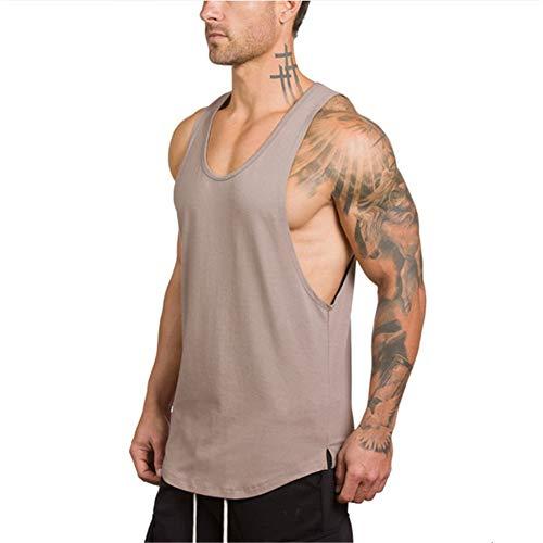 XGWML Hombres Chaleco, Camisa Sin Mangas, de Secado Rápido Chaleco, Chaleco de la Camiseta, Músculos Avanzadas, Adecuado Aptitud para Correr