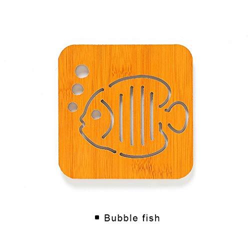 Bamboe isolatie tafelset cartoon-tafelset borden-pannen-schotel matten-onderzetters