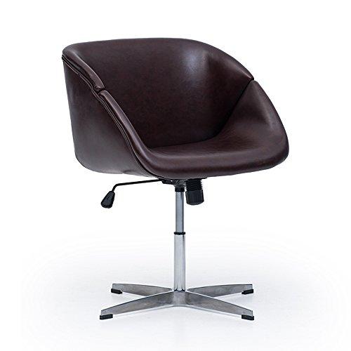 MEIDUO Durable Selles La chaise de bureau pivotante peut être augmentée et a abaissé la couleur facultative de rotation pour intérieur extérieur (Couleur : Marron foncé)
