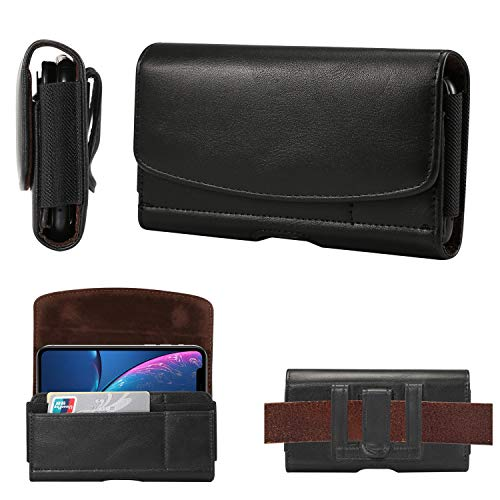 GUOQING Clip de cinturón de teléfono para iPhone 11/XR bolsa de cuero con clip para cinturón, funda para Samsung Galaxy Note 10, S10, S20, S7edge