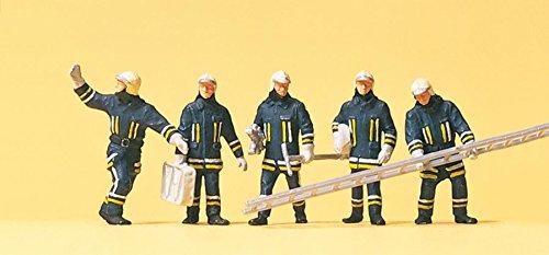 Preiser 1/87th–pr10484–Modelleisenbahnen–Feuerwehr Ankunft auf die Aktion