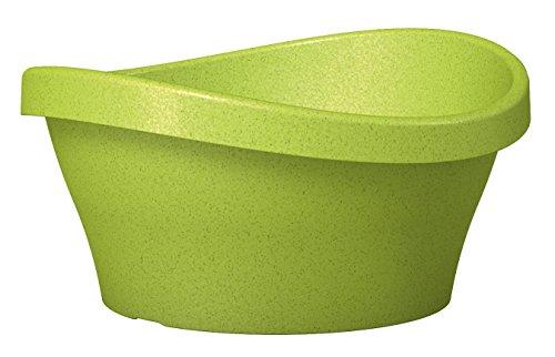 Preisvergleich Produktbild Scheurich Wave Garden Bowl,  runde Pflanzschale aus Kunststoff,  Living Green,  40 cm Durchmesser,  19 cm hoch,  10 l Vol.