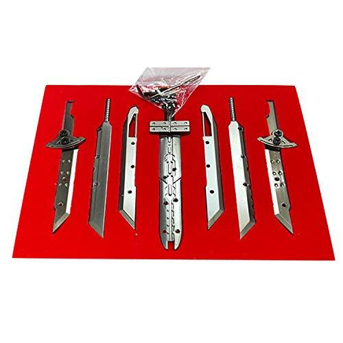 I3C Anime Final Fantasy 7 Spielzubehörsammlung, Schlüsselanhänger, FF7 Game Design Anhänger Halskette für Männer, Frauen und FF7-Fans (7 piezas)