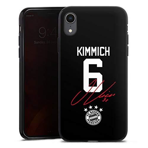 DeinDesign Silikon Hülle kompatibel mit Apple iPhone Xr Case schwarz Handyhülle FC Bayern München FCB Kimmich
