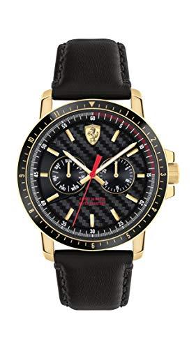 Scuderia Ferrari Reloj Análogo clásico para Hombre de Cuarzo con Correa en Cuero 830451