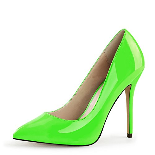 Higher-Heels PleaserUSA Pumps Amuse-20 neon grün Gr.40