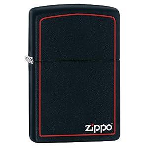 Zippo Logo Mechero, Black Matte, 3.5x1x5.5 cm 3