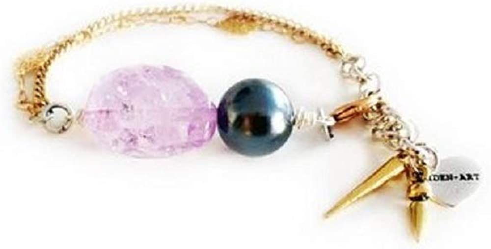 SCANDALICIOUS GIRL 18K Gold Plated Charm Bracelet with Amethyst