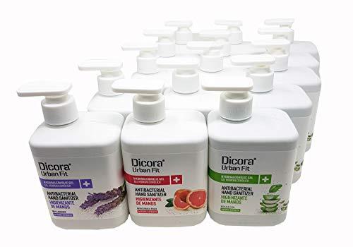 Dicora. Pack especial multiaroma de gel higienizante para manos. Aromas Aloe Vera, Melocotón y...