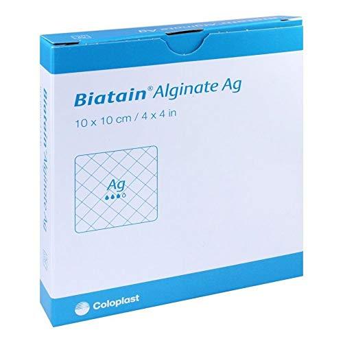 biatain Alginate AG compresas 10x 10cm con plata 10St