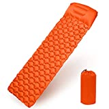 Gintenco Inflatable Sleeping Pad, Camping Mat with Pillow Waterproof and Moisture-Proof Roll Mats for Hiking...