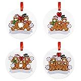 FUTN Personalizada 1-7 Miembros de la Familia del árbol de Navidad Ornamentos Colgantes Fiesta de Navidad Decoración de cuarentena Regalo for Las Vacaciones de Boda (Color : H, Size : Set)
