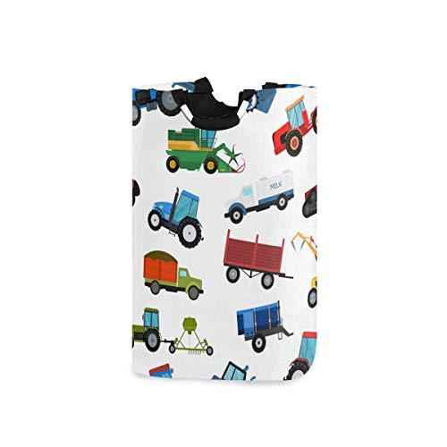 Hdadwy Cestas de lavandería, máquina Tractor agrícola, Equipo agrícola Industrial, Cesta de lavandería Plegable con Asas, Adecuada para dormitorios, lavandería, baño