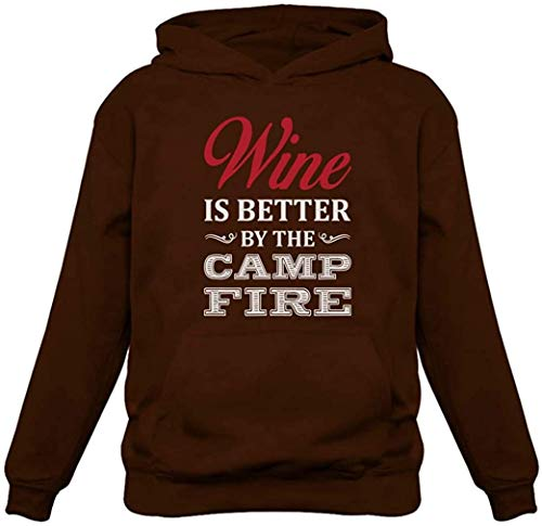 Balinh2 Hoodie Wine is Better by The Camp Fire Camper Camping Women