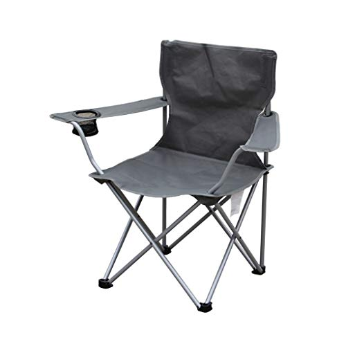 Decorative stool CSQ-Portable Chaise de Jardin, Chaise d'extérieur Grise épaisse Chaise de Barbecue antidérapante imperméable, Facile à Ranger Chaise Chaise Portable Pliable (Color : Gray)