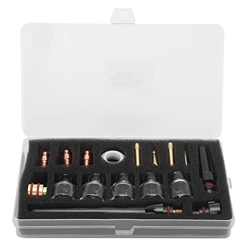 GAESHOW Kit di accessori per torcia per saldatura Coppa di vetro Materiali di consumo per morsetto in tungsteno in ottone per WP-17/18/26