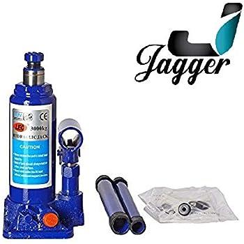JAGGER Super Heavy Engineering Car universal hydraulic Stabiliser Jack (Blue & Red) (Capacity 3000Kg / 3 ton ), SWIFT, BALENO, I20, I10, HONDA CITY, ALTO, CRETA, BREEZA, VERNA, SCORPIO, XUV, THAR, ALL INDIAN CARS