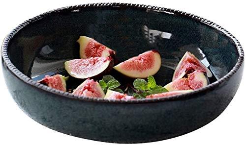 TREEECFCST Platos Vajilla Un Recipiente Grande de cerámica Ensaladera vajilla de Frutas