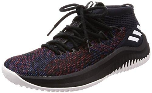 Adidas Dame 4, Zapatillas de Deporte para Hombre, Negro (Negbas/Ftwbla/Negbas 000), 49 1/3 EU