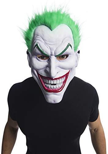 Rubies Máscara Joker PVC con Pelo, Multicolor, Talla única para Hombre
