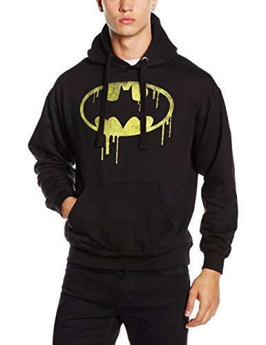 DC Comics Sudadera Batman Dripping Logo Negro M