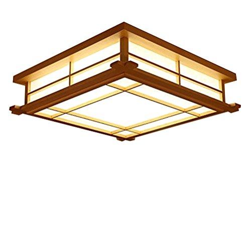 GQLB in Stile Giapponese Tatami Luci Studio Nordic Luci 35 * 35 * 12Cm Lampada Da Soffitto Led Camera Da Letto in Legno Massiccio Personalizzati Illuminazione Creativa, Luce Calda