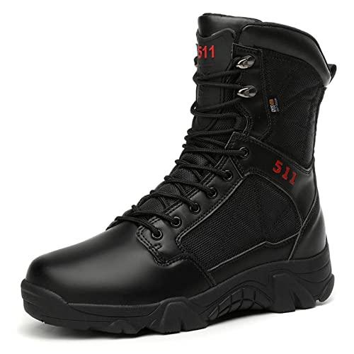 LN-BeTe-BaKe Botas Militares Hombre tacticas Magnum Desert Boots Impermeables Ultraligero Verano Botas de Senderismo Botas de Combate Black-43