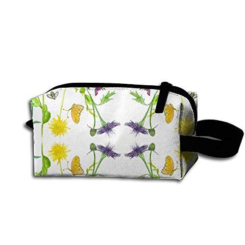 Travel Makeup Bee Botanical Beautiful Waterproof Cosmetic Bag Quick Makeup Bag Pencil Case