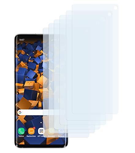 mumbi Schutzfolie kompatibel mit Samsung Galaxy S10 Folie klar, Displayschutzfolie (6X)