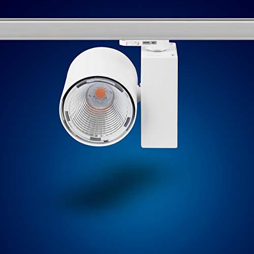 Mextronic 3-Phasen-LED-Strahler für Stromschienen: 30W, Ø 96mm (Warmweiß) [Energieeffizienzklasse A+]