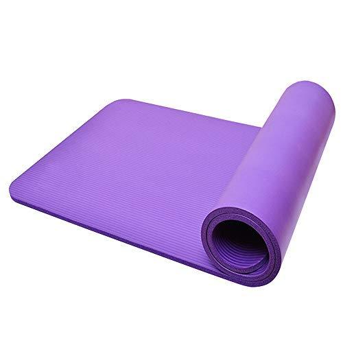 TOMSHOO Esterilla Yoga Antideslizante Alfombrilla Yoga 10mm Gruesa con Correa y Bolsa de Malla para Pilates Gimnasia y Deporte