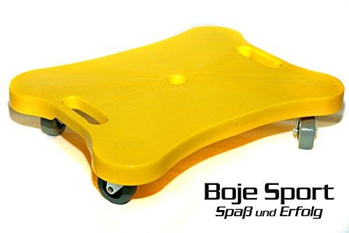Boje Sport Planche à roulettes avec Corde à Sauter pour Tirer, Couleur: Jaune