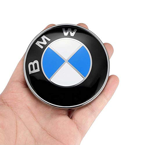 74MM 74mm BMW Trunk Emblem 3-Series M-Series E46 E90 E82 4-Series 2 Pin Replacement Badge Hood or Trunk Logo Fit for BMW 2-Series