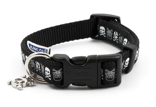 Ancol Collar de Perro Calaveras, 30 - 50 cm