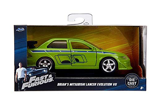 Jada Toys Fast & Furious 1:32 Brian's 2002 Mitsubishi Lancer Evo Die-cast Car, Toys for Kids and Adults