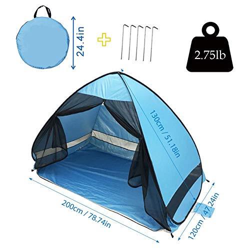 JooDaa Neues Strandzelt Automatisches Pop-up UV-Schutz Sonnengaze-Zelt Anti-Mücken-Zelt-Kit für Camping im Freien