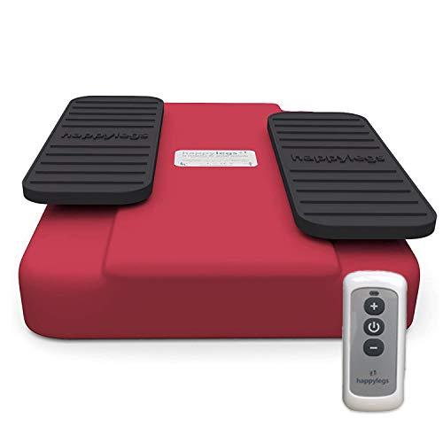 Happylegs 2021- Ejercitador de Piernas Gimnasia Pasiva para Mayores y Jóvenes Apto para Rehabilitación. La Máquina de Andar Sentado que Ayuda a Mejorar la Circulación (Rojo)