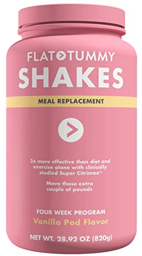 Flat Tummy Tea Shake 4 Week Meal Replacement Pack with Clinically Studied Garcinia Cambogia, Vanilla