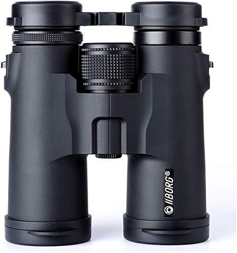 Knoijijuo Prismáticos binoculares 10 x 42 para Adultos, binoculares y telescopios para la observación de Aves excursiones de Senderismo -BAK4 Prisma/FMC ópticas - Lleno de nitrógeno