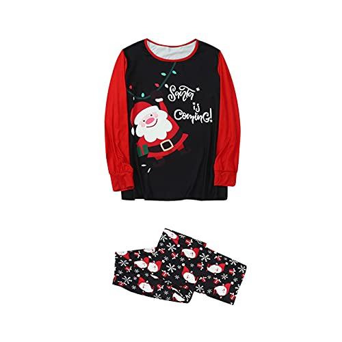 Hengyouhui Familie Nachtwäsche Weihnachtsmann-Drucke Kostüm Anzug Schlafanzug Familie Pyjamas Outfit Pyjama Set Nachtwäsche