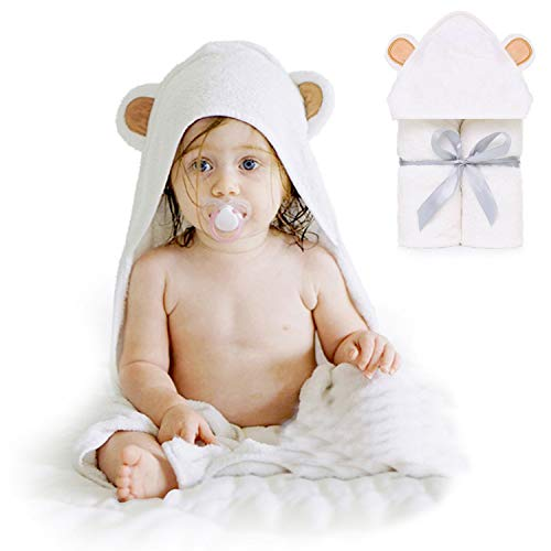 HyAdierTech Baby Toalla con Capucha, Toalla de Baño Bebé, Capa de Baño Bebé Infantil, Toalla Bebe Recien Nacido, Ultra Suave Hipoalergénica de Bambú Orgánico Super Absorbente