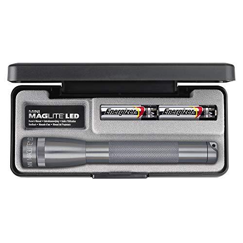 Maglite Mini 2AA/R6 LED coffret mixte adulte Gris 16.8 cm
