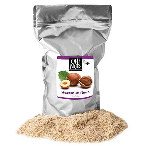 Oh! Nuts Ground Hazelnut Flour | 2lb Bulk Bag Keto-Friendly Nut Flour from Ground Filberts, Kosher Gluten Free Baking Hazelnuts Meal, Vegan Milled Filberts | Healthy Alternative Certified Kosher