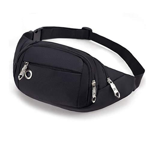 Giow Hüfttasche Gürteltasche Multifunktions-wasserdichte Oxford Sports Herren-Registrierkasse Damen Running-Handy Kleine Taschen (Farbe: Schwarz)