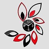 Sala de Plata Grande Flor de Cuarzo acrílico DIY Reloj de Pared3D Espejo Relojes Reloj