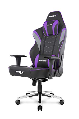AKRacing Masters Series Max Gaming Chair with Wide Flat Seat, 400 Lbs Weight Limit, Rocker and Seat...